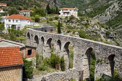 Aqueduct in Old Bar, Montenegro Stock Image