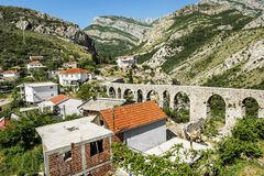 Aqueduct in old city of Bar. Stock Photo