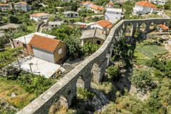 Aqueduct in old city of Bar. Royalty Free Stock Images