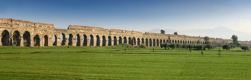 Aqueduct Panorma Royalty Free Stock Image