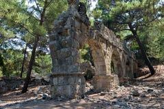 Aqueduct in Phaeslis Antique City, Turkey Stock Photos