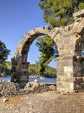 The aqueduct - Phaselis, Turkey Stock Images