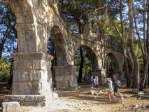 The aqueduct - Phaselis, Turkey Royalty Free Stock Image