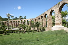 AQUEDUCT IN PLASENCIA Royalty Free Stock Images