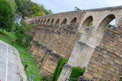 Aqueduct of Plasencia (Spain. The aqueduct of Plasencia (Spain) was built in the XII century royalty free stock images