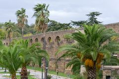 Aqueduct of Plasencia (Spain. The aqueduct of Plasencia (Spain) was built in the XII century stock images