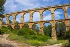 Aqueduct Pont del Diable en Catalogne Images libres de droits