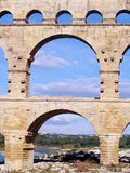 Aqueduct Pont du Gard Stock Photo