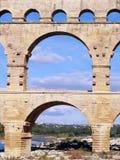 Aqueduct Pont du Gard. Roman Aqueduct Pont du Gard, south of France, unesco world heritage site Stock Photo