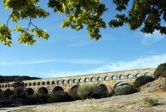 Aqueduct Pont du Gard in France Royalty Free Stock Images
