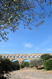 Aqueduct Pont du Gard in France Royalty Free Stock Photography
