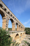 Aqueduct Pont du Gard in France Royalty Free Stock Photo