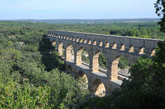 Aqueduct Pont du Gard in France Stock Photos
