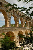 Aqueduct Pont du Gard in France Stock Image
