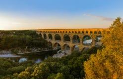 Aqueduct Pont du Gard - Provence France Stock Images