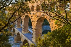 Aqueduct Pont du Gard - Provence France Royalty Free Stock Image