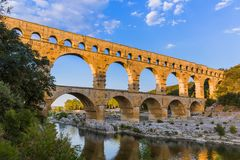 Aqueduct Pont du Gard - Provence France Royalty Free Stock Images