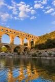 Aqueduct Pont du Gard - Provence France Stock Image