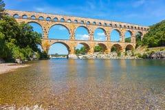 Aqueduct Pont du Gardon στην Προβηγκία Στοκ φωτογραφία με δικαίωμα ελεύθερης χρήσης