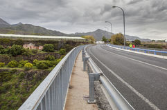 Aqueduct Puente del Aguila, Nerja, Ισπανία Στοκ φωτογραφίες με δικαίωμα ελεύθερης χρήσης