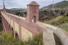 Aqueduct Puente del Aguila, Nerja, Spain. Canal Stock Image