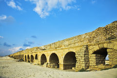 The aqueduct of the Roman period at coast Royalty Free Stock Image