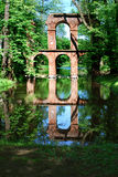 Aqueduct ruins. In the park in Arcadia near Łowicza (Poland Royalty Free Stock Images