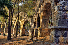Aqueduct ruins of Phaselis Royalty Free Stock Images
