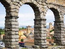 Aqueduct in Segovia. Roman aqueduct in Segovia, Spain famoust monument Royalty Free Stock Images