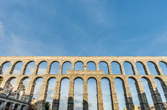 Aqueduct of Segovia at Castile and Leon, Spain royalty free stock image