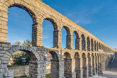 Aqueduct of Segovia at Castile and Leon, Spain Royalty Free Stock Photo