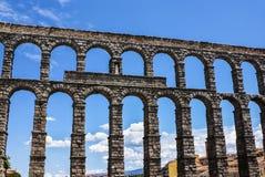 Aqueduct in Segovia, Castilla y Leon, Spain. Royalty Free Stock Image