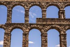 Aqueduct in Segovia, Castilla y Leon, Spain. Royalty Free Stock Photo