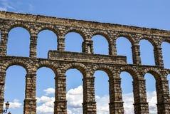 Aqueduct in Segovia, Castilla y Leon, Spain. Europa royalty free stock image