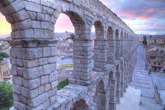 Aqueduct in Segovia, Castilla y Leon, Spain Stock Image