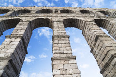 Aqueduct in Segovia, Castilla y Leon, Spain Royalty Free Stock Photo