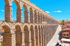 Aqueduct of Segovia or more precisely, the aqueduct bridge is