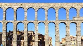 The Aqueduct of Segovia. Royalty Free Stock Photos