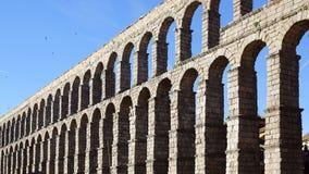The Aqueduct of Segovia. The Roman Aqueduct of Segovia. Segovia, Spain royalty free stock photo
