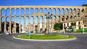 The Aqueduct of Segovia. Stock Images