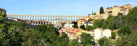 The Aqueduct of Segovia. Royalty Free Stock Photography