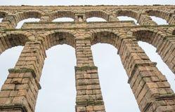 Aqueduct of Segovia. Roman aqueduct of Segovia in Spain Stock Photo