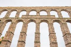 Aqueduct of Segovia. Roman aqueduct of Segovia in Spain Royalty Free Stock Photography