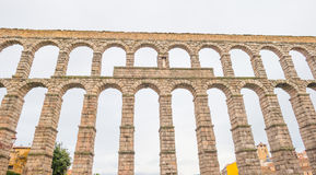 Aqueduct of Segovia. Roman aqueduct of Segovia in Spain Royalty Free Stock Images
