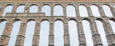 Aqueduct of Segovia. Roman aqueduct of Segovia in Spain Royalty Free Stock Photo