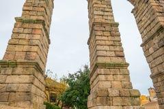 Aqueduct of Segovia. Roman aqueduct of Segovia in Spain Royalty Free Stock Image
