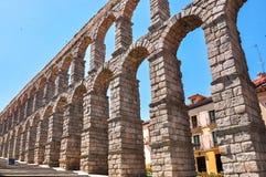 Aqueduct of Segovia, Spain. Aqueduct of Segovia in Spain stock image