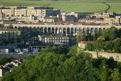 Aqueduct at Segovia, Spain Royalty Free Stock Image