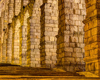 Aqueduct of Segovia, Spain Stock Images