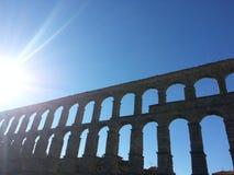 Aqueduct. Segovia Spain aqueduct Stock Images